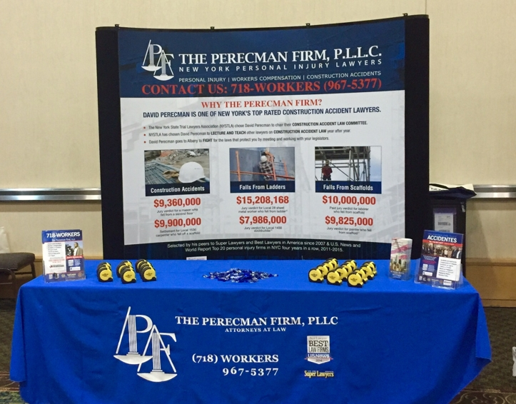 The Perecman Firm booth at National Labor & Management Conference